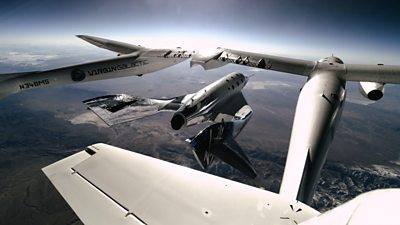 Scotsman Dave Mackay piloted the Virgin Galactic rocket plane to 90km above California's Mojave Desert.
