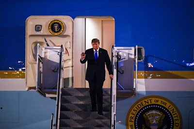 Donald Trump and Air Force One