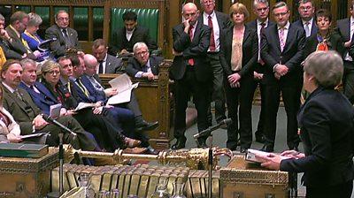 MPs including Ian Blackford and Theresa May