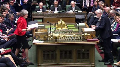 Front benches in the House of Commons