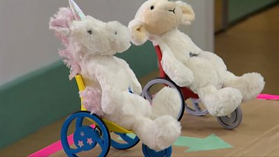 The organisation which made the model believes more toys should reflect children with disabilities.