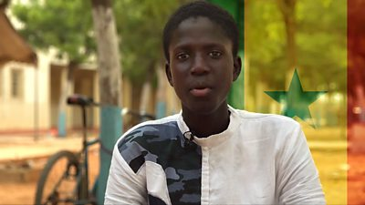 Abdoulaye lives in Senegal