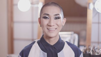 A Buddhist monk in make-up