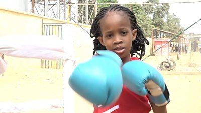 Nigerian aspiring boxer Sekinat Quadri