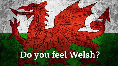Wales flag with words 'Do you feel Welsh?'