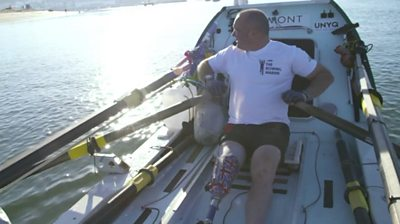 Disabled rower in Atlantic crossing
