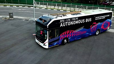 The Volvo autonomous bus