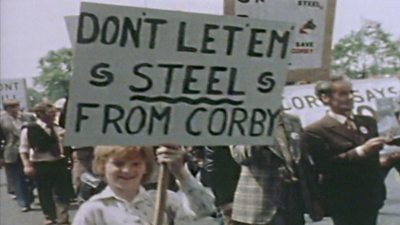 Corby steel protests