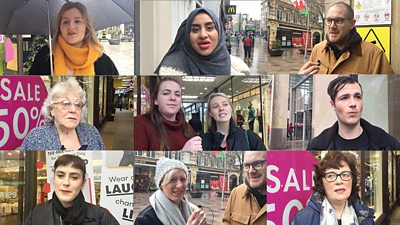 Members of the public in Cardiff give their views