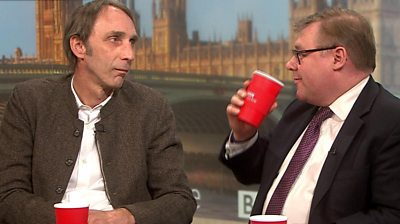 Will Self and Mark Francois