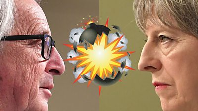 Jean-Claude Juncker and Theresa May