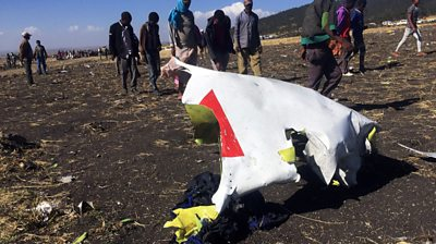 Ethiopian Airlines  wreckage
