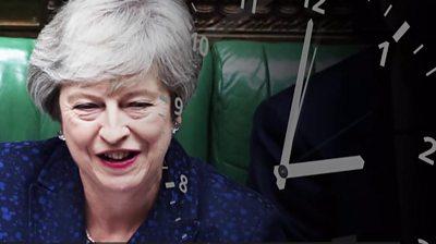 Theresa May and a clock
