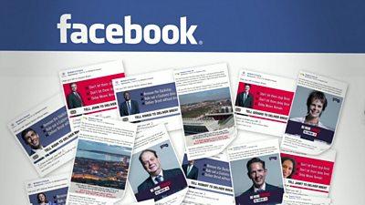 Recent political ads on Facebook