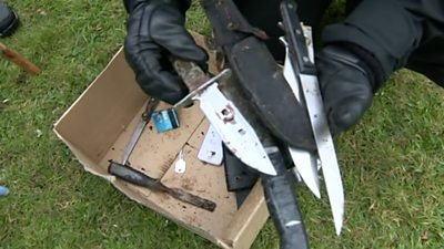 Knife haul