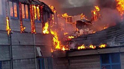 Fire at Fair Isle Bird Observatory