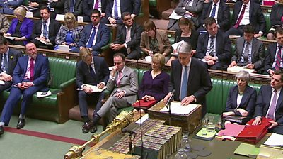 Philip Hammond in House at despatch box