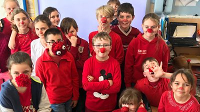 Comic Relief: The school raising money by ditching plastic red noses