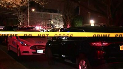 Scene of the shooting in Staten Island