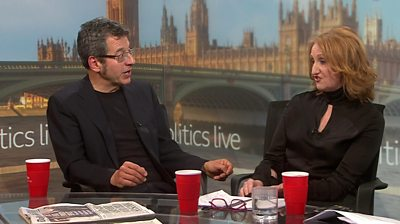 George Monbiot and Suzanne Evans