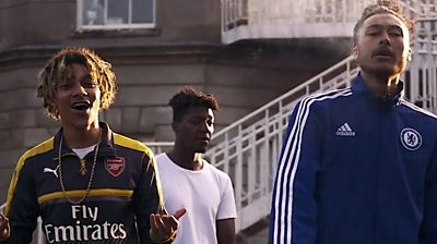 An ongoing rivalry between two gangs in Ipswich was played out in music videos posted on YouTube.