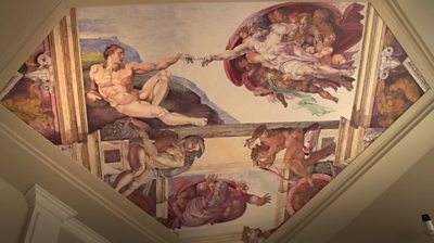 Cosimo Geracitano has painted 45 replicas of masterpieces which cover every wall of his Canada home.
