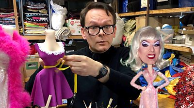 Mark Mander and Clementine, the living fashion doll
