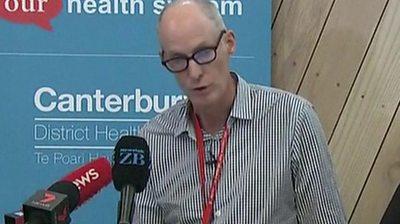 Chief surgeon at Christchurch Hospital, Greg Robertson