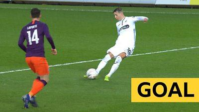 'Peach of a goal' - Swansea double lead against Man City