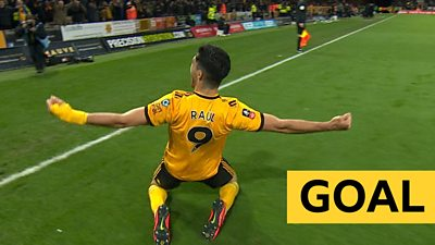 'That's been coming' - Jimenez puts Wolves ahead