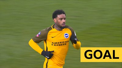 'Fantastic finish' - Locadia strike brings Brighton back into tie