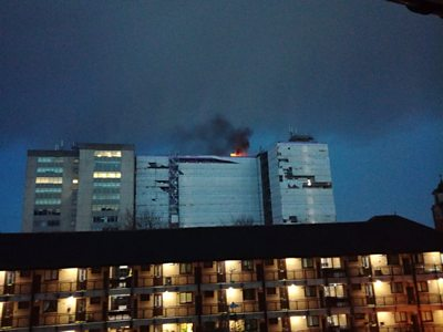Fire at empty block of flats in Swansea