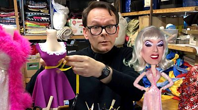 Mark Mander and Clementine the living fashion doll