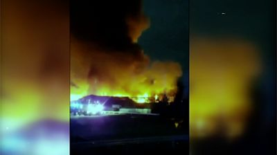 The fire in Tyseley has led to nearby roads being closed and disruption to train travel.
