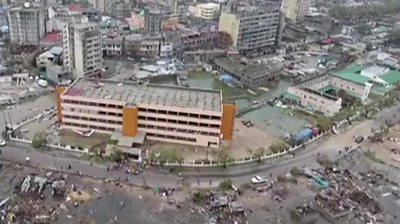 Aerial footage showing the disaster in Mozambique
