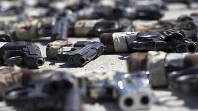 The number of homicides reached a record high in 2018 and experts say most were carried out with US guns.