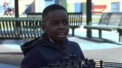 Tanitoluwa Adewumi playing chess