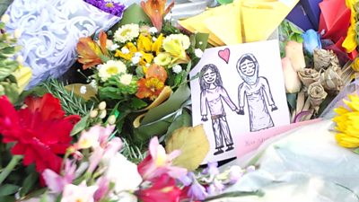 Tributes left in Christchurch