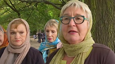 Christchurch residents in headscarves