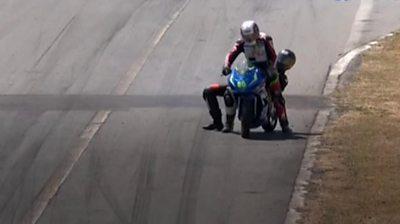 Motorcylists fight in Costa Rica