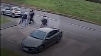Scene of Azaan Kaleem attack