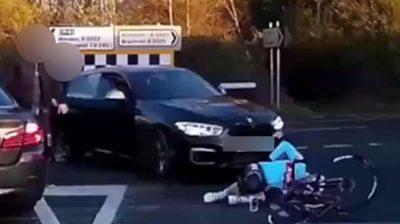 Cycle crash in Windsor