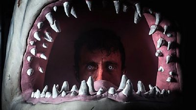 Martin O'Brien appears in a sharks mouth