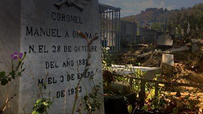 Gravestone in Caracas cemetery