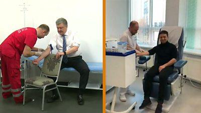 Ukrainian presidential candidates taking drug tests
