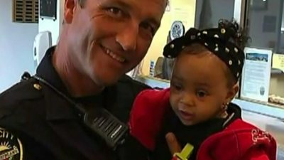 Officer and baby