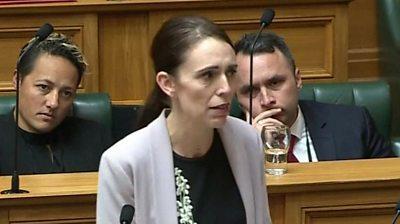 Ardern in parliament