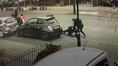 The carjacking was caught on CCTV