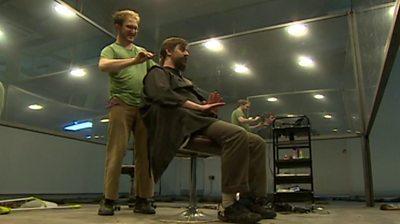 Man having his hair cut