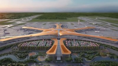 Artist's impression of the new airport in Beijing.